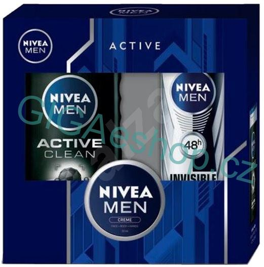 NIVEA MEN kazeta Active Clean & Creme