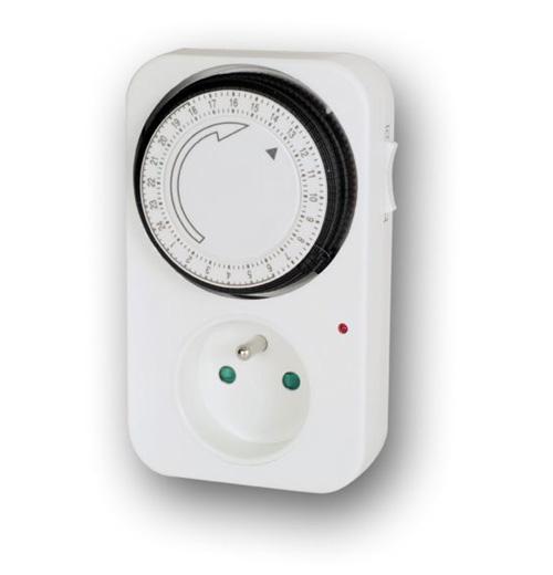 SPÍNACÍ HODINY (Spínací hodiny do zásuvky denní YTS-F, proud zátěže 16A, max. zátěž 3500W, napětí 23