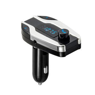 Bluetooth Car Kit Bezdrátový vysílač FM rádio adaptér FM (Bluetooth Car Kit Bezdrátový vysílač FM rádio adaptér FM modulátor Handsfree hudba Mp3 přehrávač USB Audio pro Smartphone CY825)