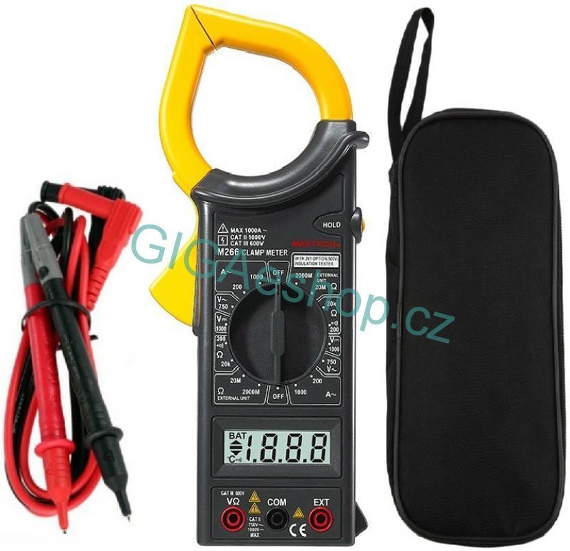DIGITÁLNÍ MULTIMETR KLEŠŤOVÝ DT 266 (Digitální měřič klešťový s funkcí Data Hold. LCD displej s auto