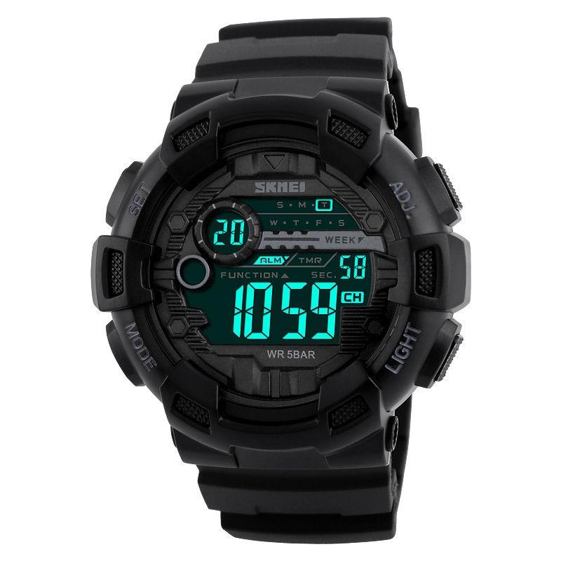 HODINKY SKMEI 1243 - VODOTĚSNÉ (Pánské sportovní digitální vodotěsné hodinky do 50m)