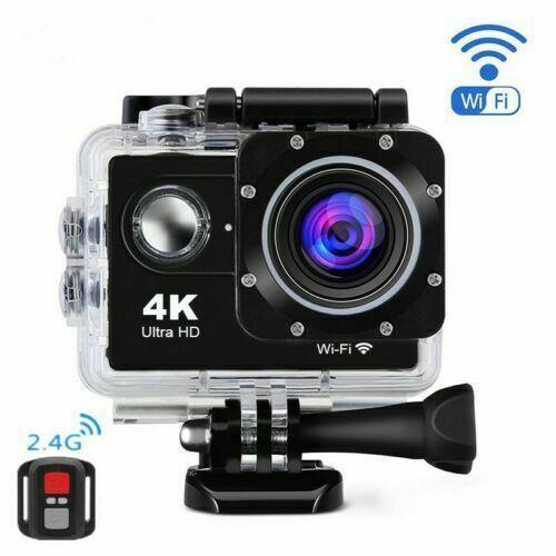 SPORTOVNÍ VODOTĚSNÁ KAMERA 4K S WIFI OVLADAČEM (Sportovní voděodolná kamera 4K s wifi a ovladačem)
